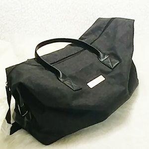 John Varvatos Grey Tweed Weekend Duffle Bag